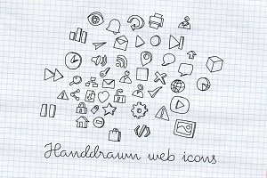 Handdrawn web icons
