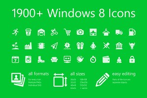 1900+ Windows 8 Icons