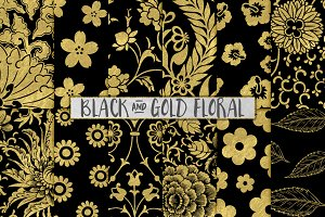 Black and Gold Floral Backgrounds