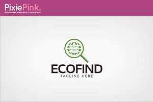 Eco Find Logo Template