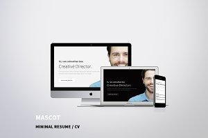 Mascot - Minimal Resume / CV