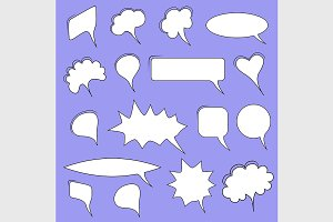 Trendy speech bubbles