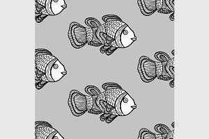 Clownfish seamless patter