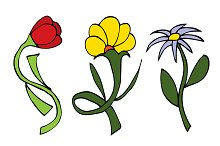 Doodles Flowers collection.