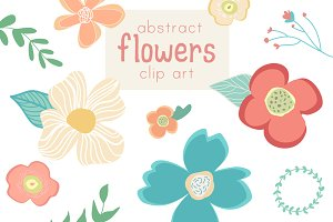 Abstract Flower Clip Art & Vector