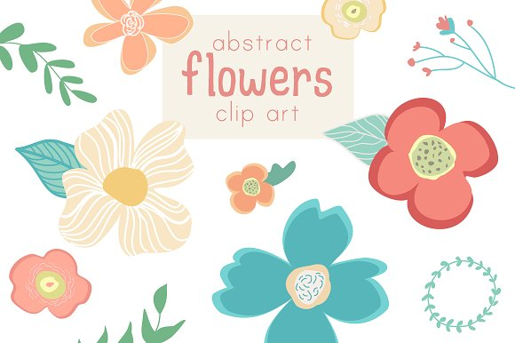 Abstract Flower Clip Art & Vector