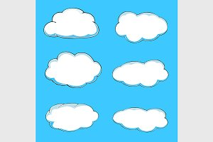 Cartoon clouds