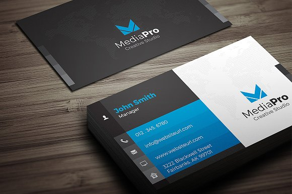 Modern creative business card business card templates creative modern creative business card business card templates creative market reheart Choice Image