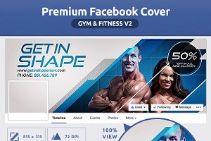 50% OFF- Gym & Fitness FB Cover