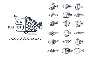 Cartoon fish pattern