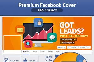 50% OFF- FLAT SEO Agency FB Cover