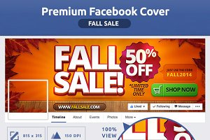 50% OFF- Fall Sale FB Cover
