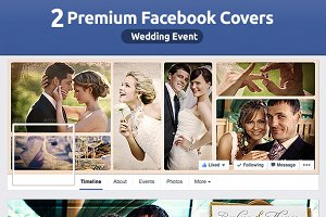 50% OFF- 2 Wedding FB Covers