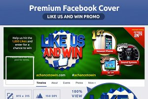 50% OFF- Like Us Promo FB Cover