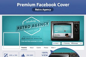 50% OFF- Retro Agency FB Cover