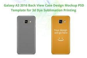 Galaxy A3 2016 3d IMD Case Mock-up