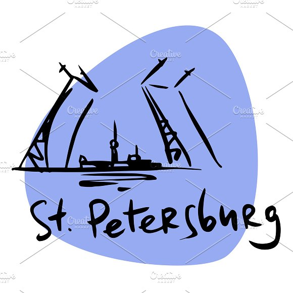 St. Petersburg Russia  - Illustrations