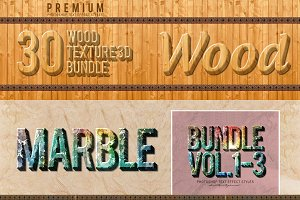 60 Styles Font Wood&Marble