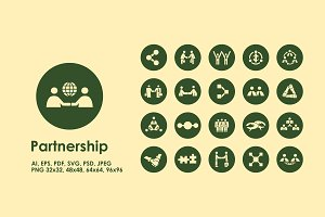 Partnership simple icons