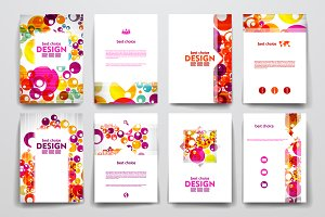 Colourful brochure templates