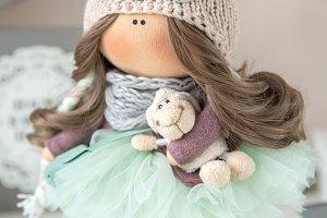 Textile Handmade doll