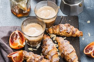 Italian style home breakfast