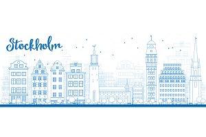Outline Stockholm Skyline