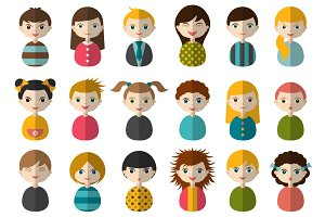 Avatars of children.