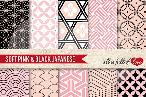 Pink and Black Japanese Pattern