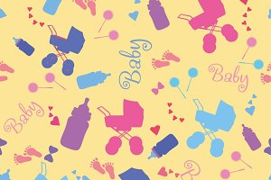Newborn seamless pattern