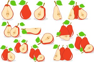Red pears vector illustration