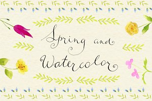 Spring and watercolor