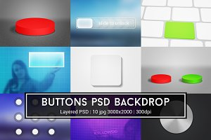 Buttons PSD Backdrop