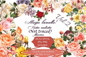 Mega roses and florals pack