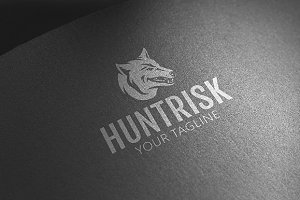 Hunt Risk - Wolf Logo