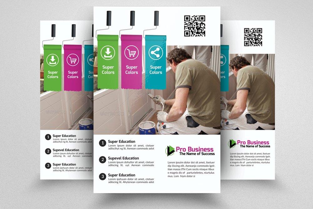 House Painter Service Flyer Template ~ Flyer Templates ~ Creative Market