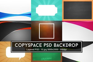 Copyspace PSD Backdrop