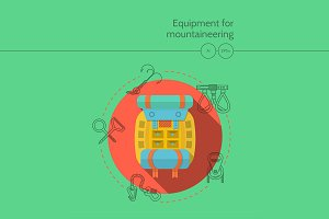 Equipment for mountaineering icon