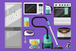 Big Vector Icons Set of Appliance