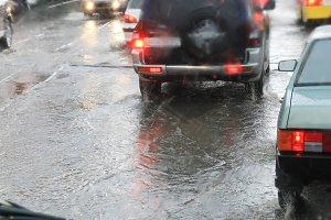 Road in the rain