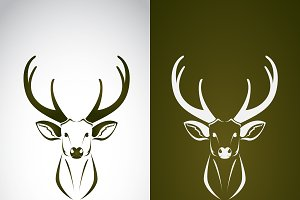 Vector image of an deer design