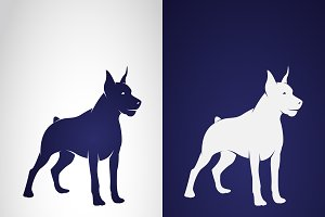 Vector image of an dog design