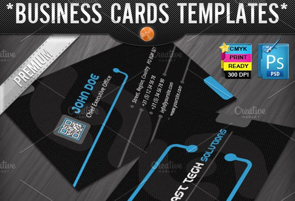 Technology business cards templates business card templates technology business cards templates business card templates creative market flashek Images