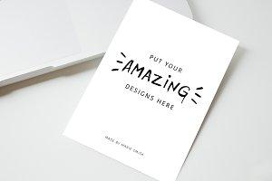 6 minimalistic mockups + bonus card!
