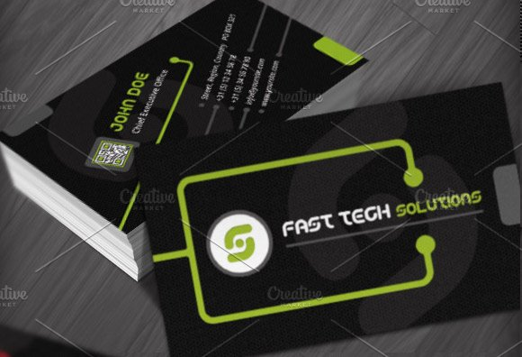 Technology business cards templates business card templates technology business cards templates business card templates creative market friedricerecipe Images