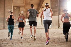 Group of runners running