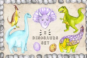Friendly Dinosaurs Set