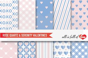 Blue & Pink Valentines Day Patterns