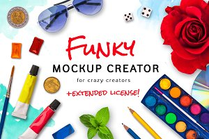 30% Off! Funky Mockup Creator