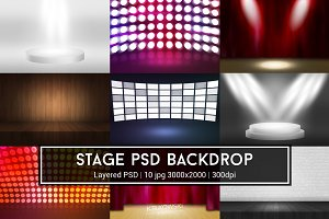 Stage PSD Backdrop